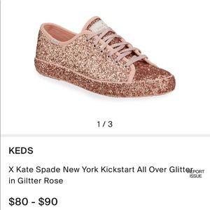 NWT Kate Spade ♠️ Rose Gold Sparkle Keds - 7.5B